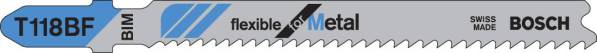 Bosch T118BF - 5 piece 3-5/8 In. 11-14 TPI Metal Cutting T-Shank Jig Saw Blade
