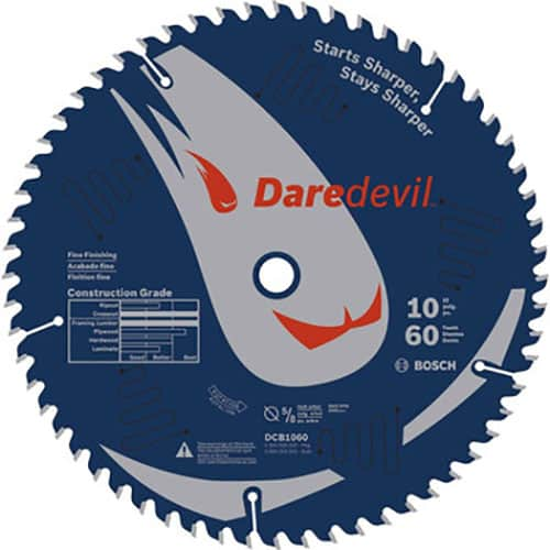"Bosch DCB1060 - 10"" Daredevil™ 60 Tooth Circular Saw Blade"