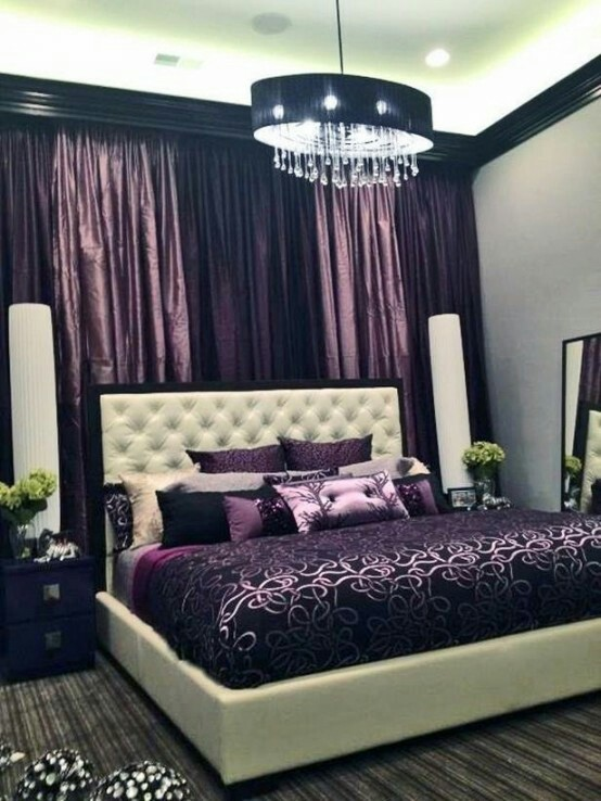 20 Amazing Purple Bedroom Designs