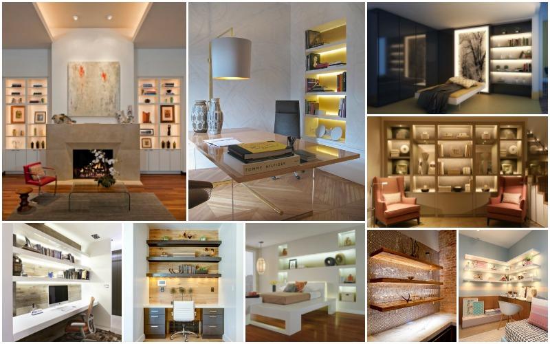 striking shelf lighting ideas that will