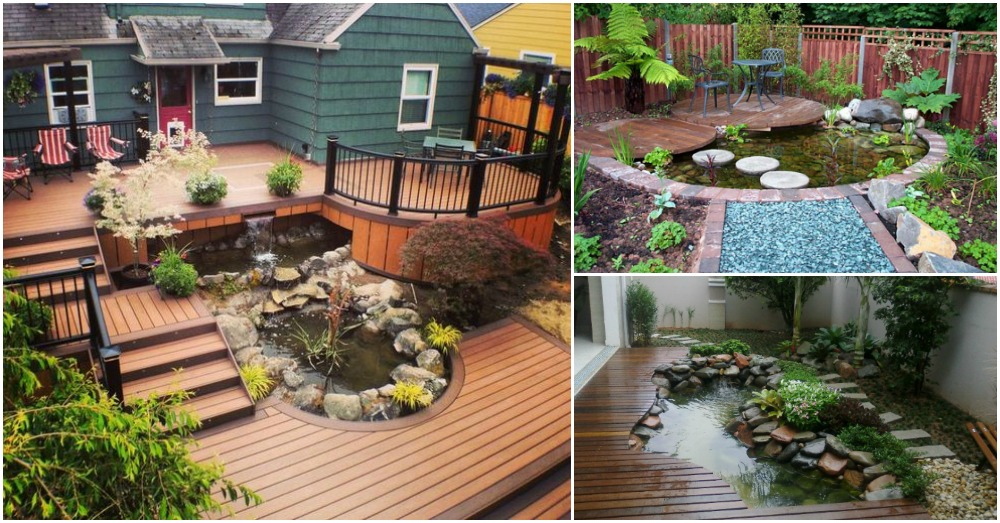 Pretty Living Room 11 Enchanting Deck Ponds You Must See Today