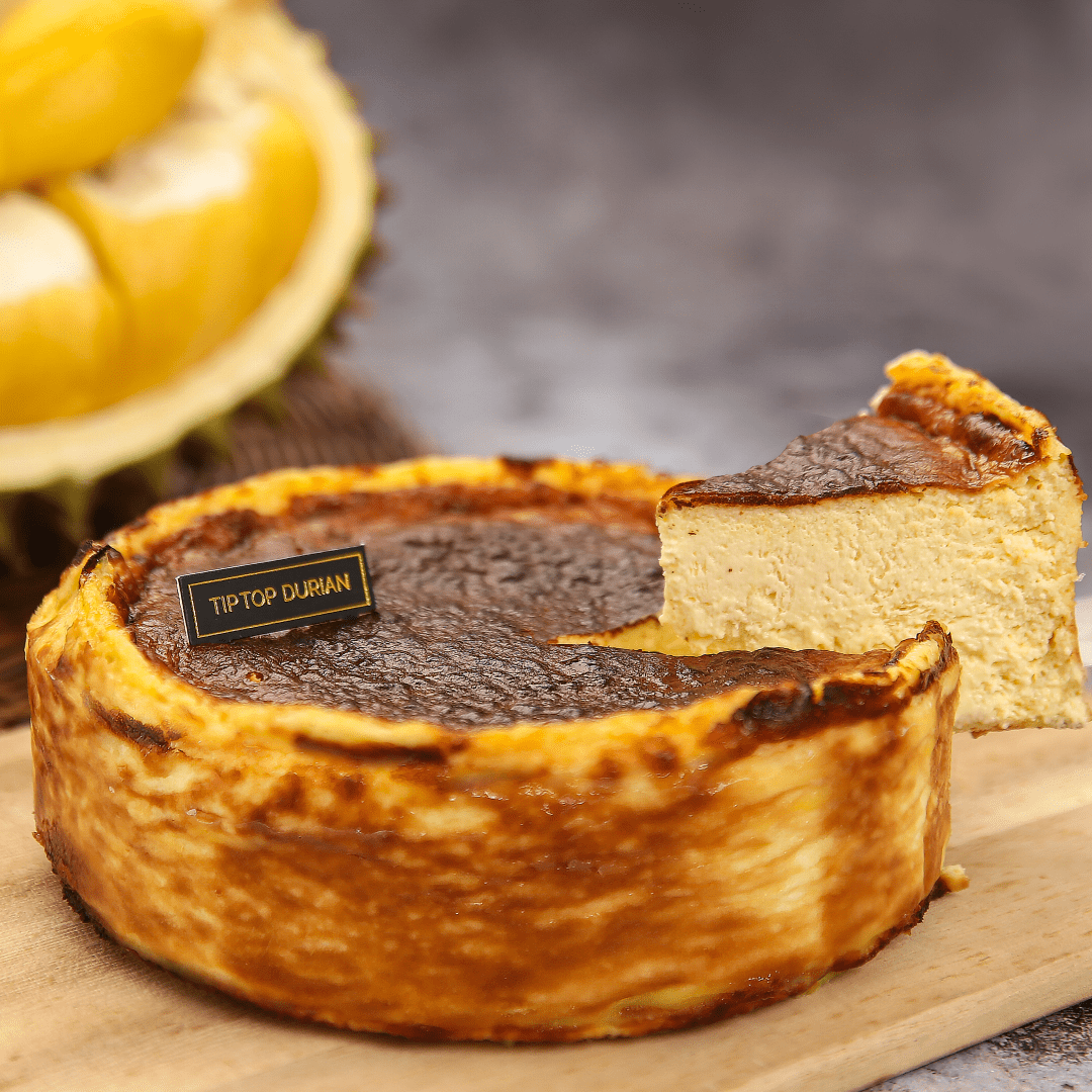 Musang King Burnt Cheesecake (1) Fathers Day Special | Tip Top Durian Delivery | Malaysia Top Fresh Durian Online Delivery