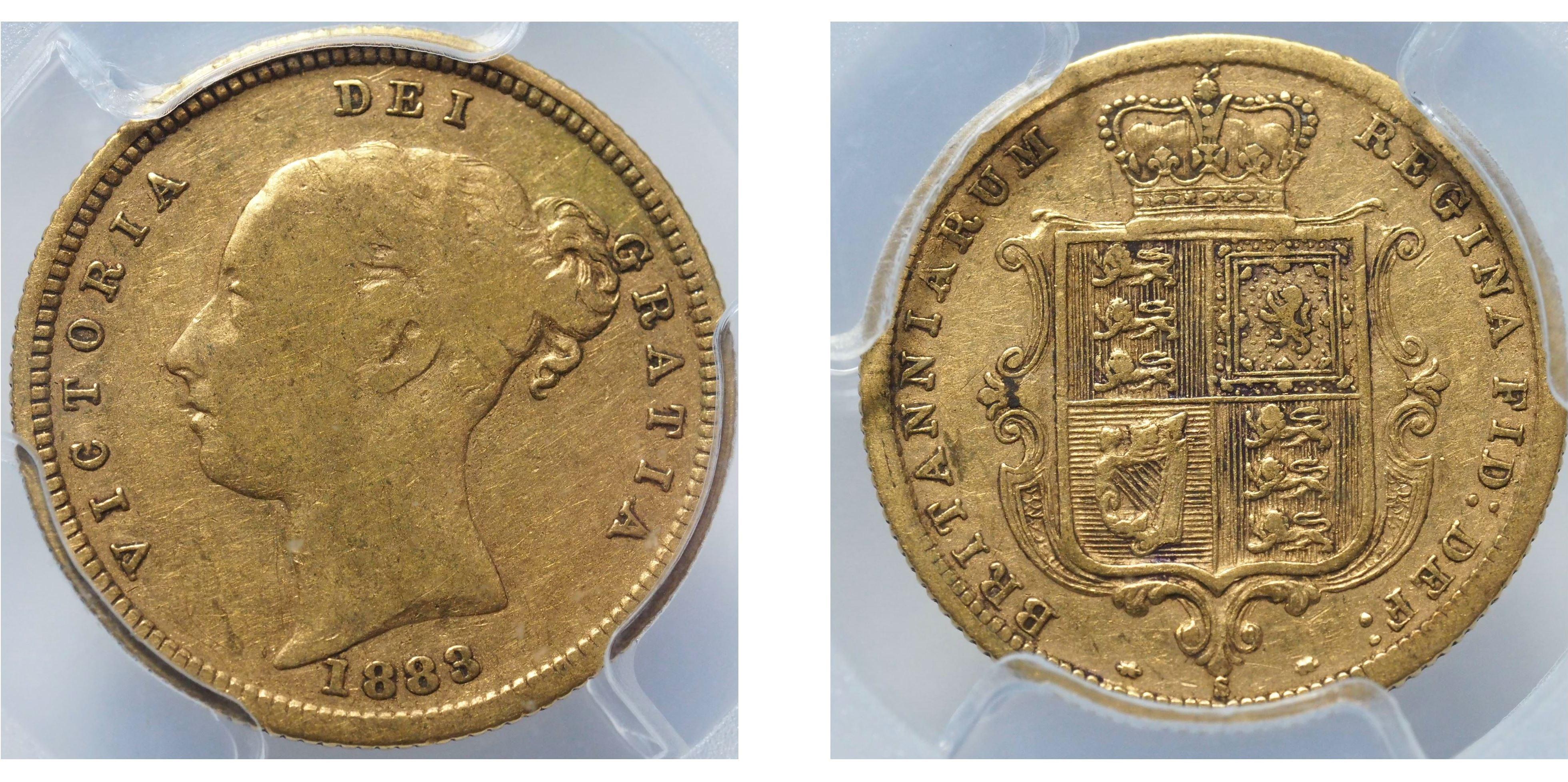 Australia 1883 Sydney Half Sovereign PCGS F15