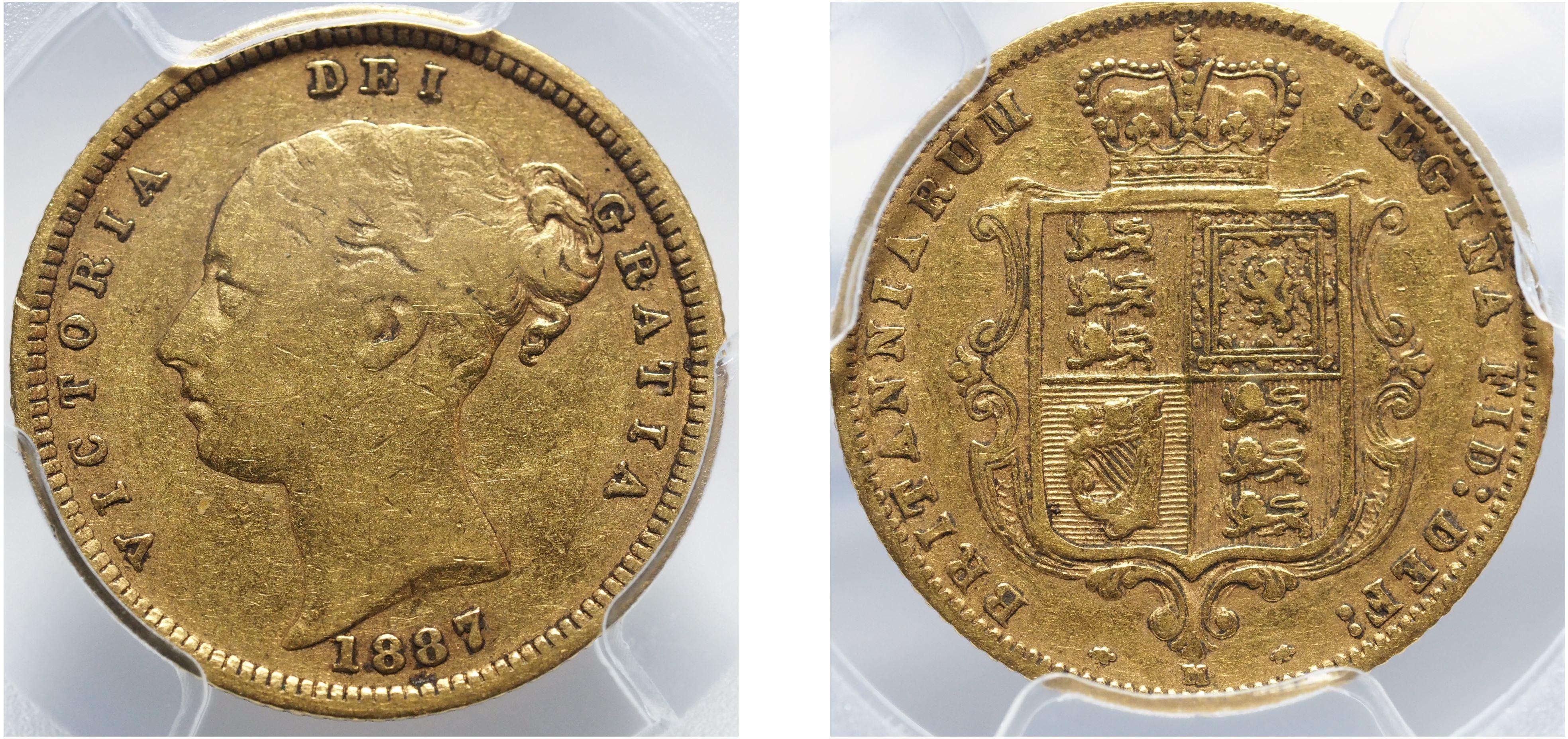 Australia 1887M Half Sovereign PCGS VF25