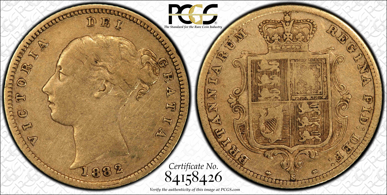 Australia 1882S Half Sovereign PCGS VF25