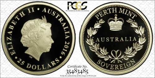Australia 2016 Perth Mint Sovereigns PCGS PR70
