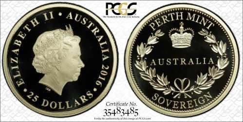 Australia 2016 Perth Mint Sovereigns PCGS PR70