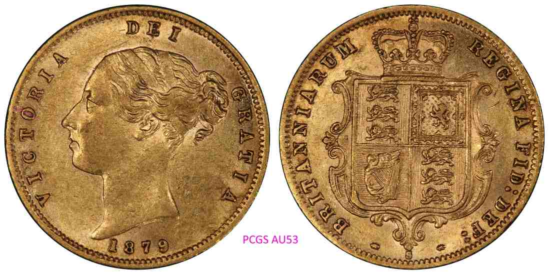 1879 Sydney Half Sovereign