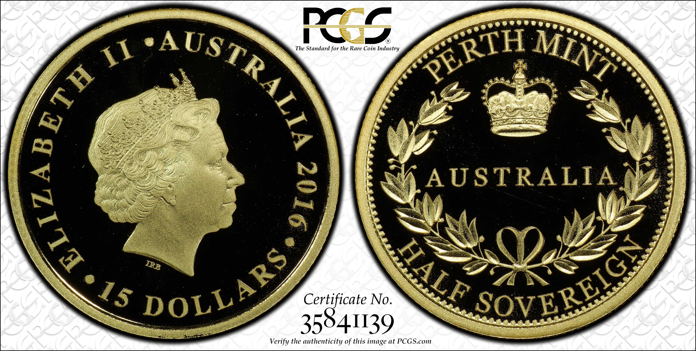 Australia 2016 Half Sovereign PCGS PR70