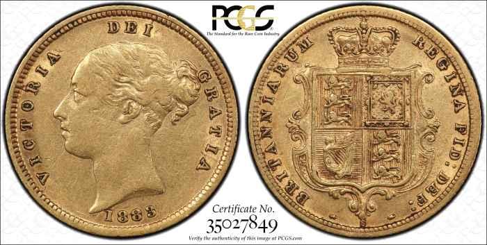 Australia 1883S Half Sovereign PCGS XF45