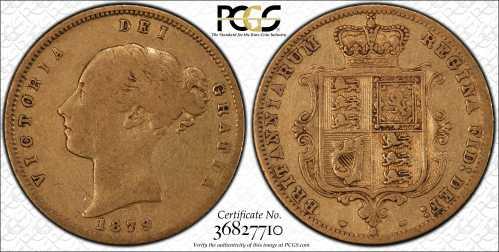Australia 1879S Half Sovereign PCGS F12