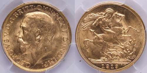 Australia 1919 Melbourne Sovereign PCGS MS64