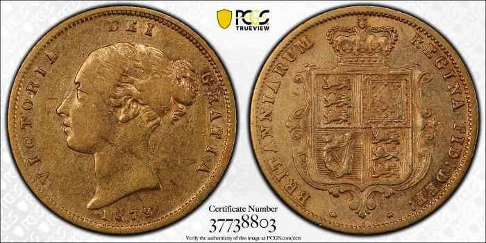 Australia 1879 Sydney Half Sovereign PCGS XF40