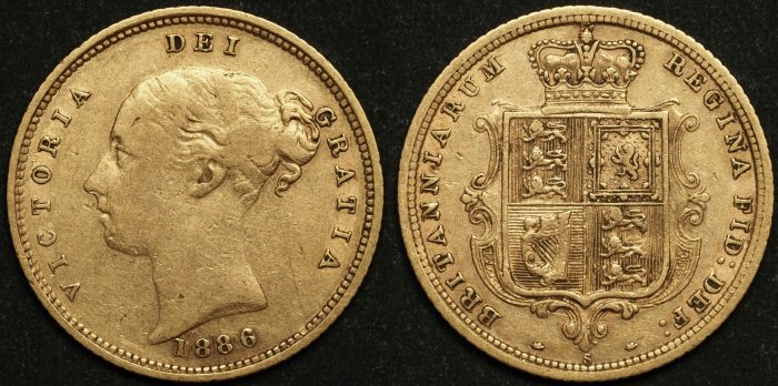 Australia 1886 Sydney Half Sovereign VF