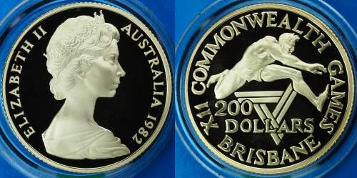 Australia 1982 Commonwealth Games $200 Proof