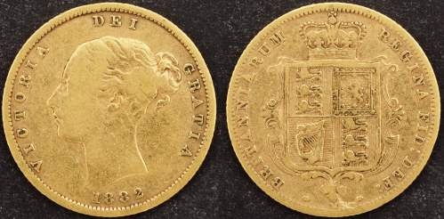 Australia 1882 Melbourne Half Sovereign VF