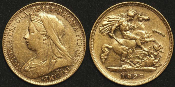 Australia 1897 Sydney Half Sovereign EF