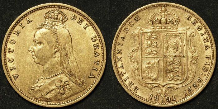 Australia 1891 Sydney Half Sovereign VF
