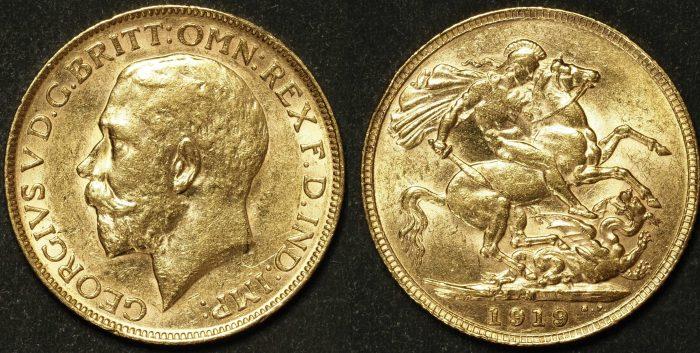 Australia 1919 Melbourne Sovereign XF