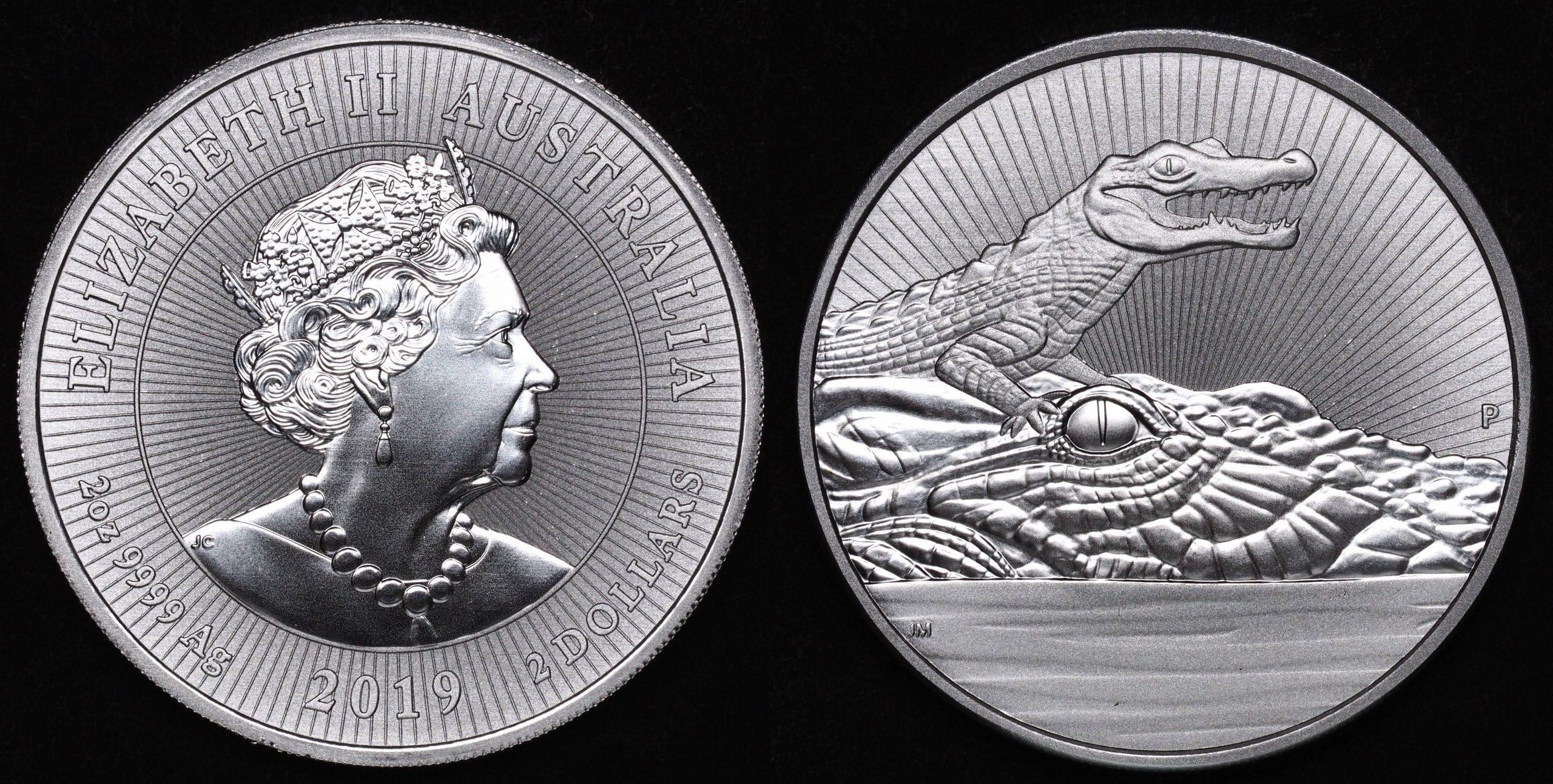 Australia 2019 2oz Silver Coins - 10 Coin Mint Tube