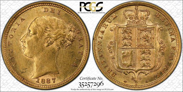 Australia 1887 Sydney Half Sovereign PCGS AU58