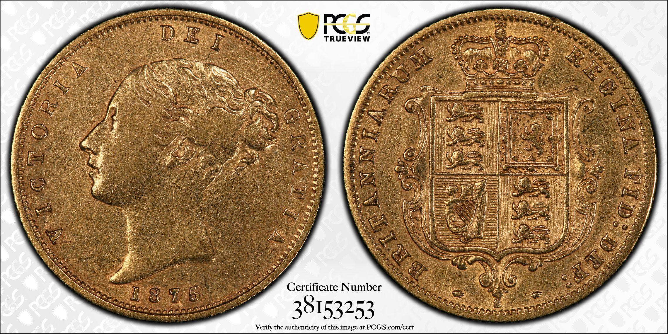 Australia 1875 Sydney Half Sovereign PCGS VF30