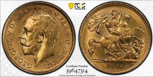 Australia 1912 Sydney Half Sovereign PCGS AU58