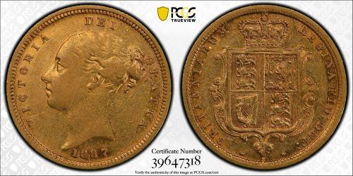 Australia 1887 Sydney Half Sovereign PCGS XF45