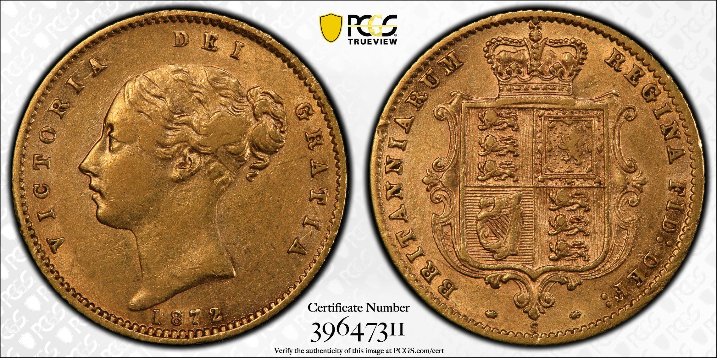 Australia 1872 Sydney Half Sovereign PCGS XF45