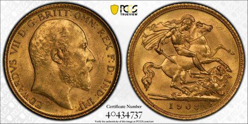 Australia 1908 Sydney Half Sovereign Ex-RBA PCGS MS62