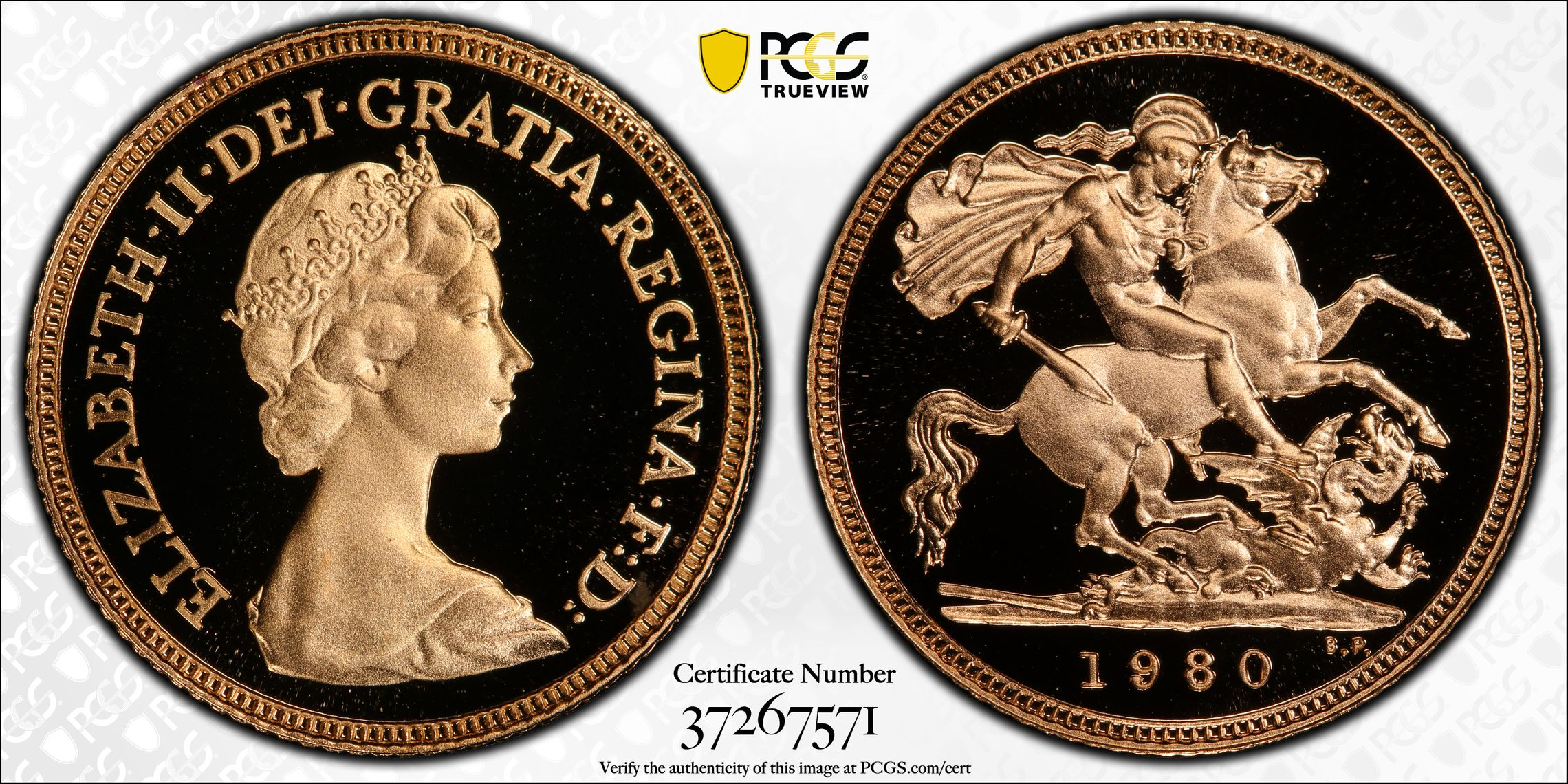 Great Britain 1980 Half Sovereign - PCGS PR69