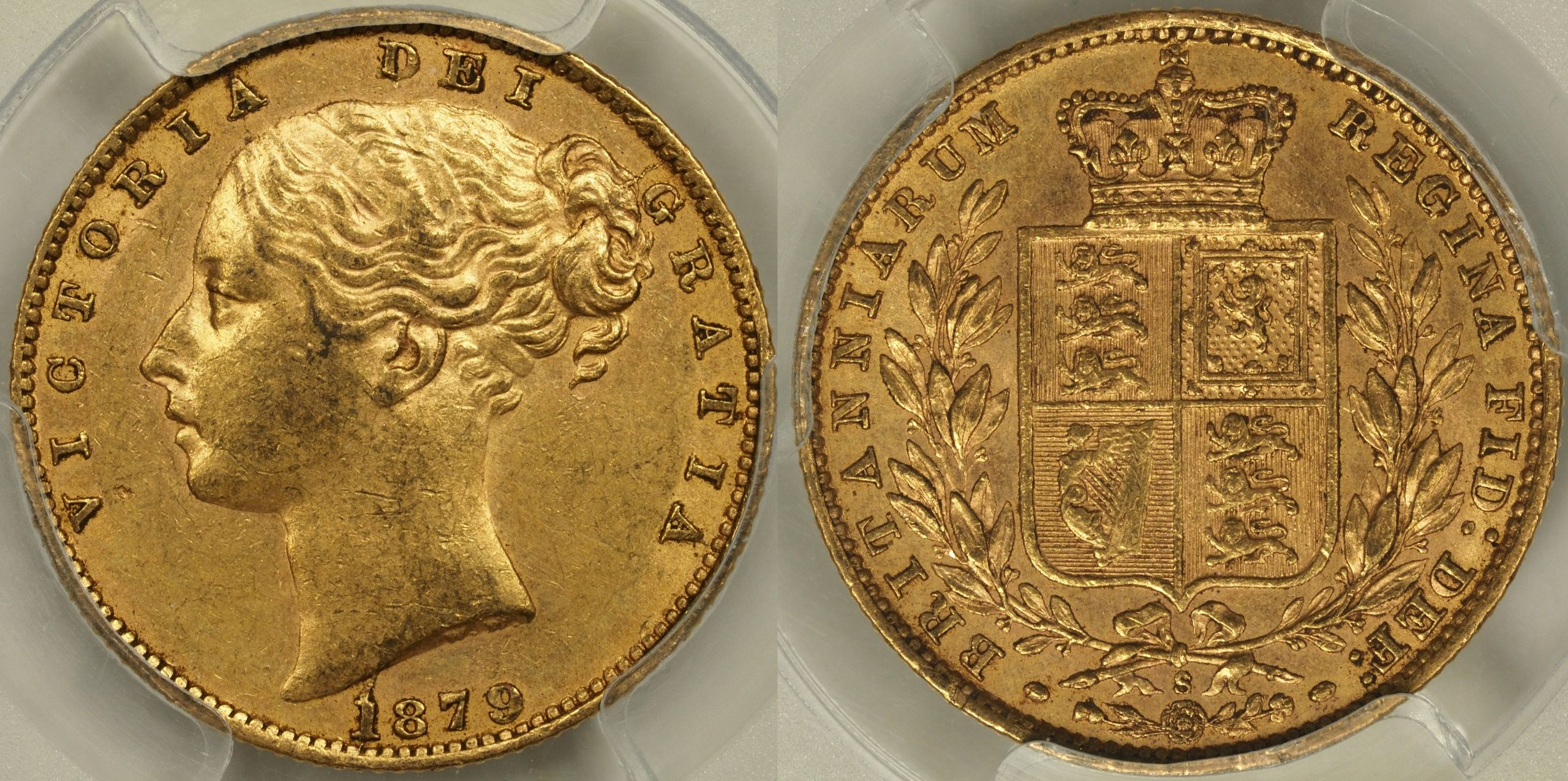 Australia 1879 Sydney Sovereign - PCGS AU58