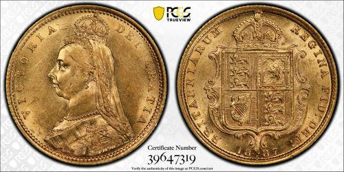 Australia 1887 Sydney Half Sovereign - PCGS AU58