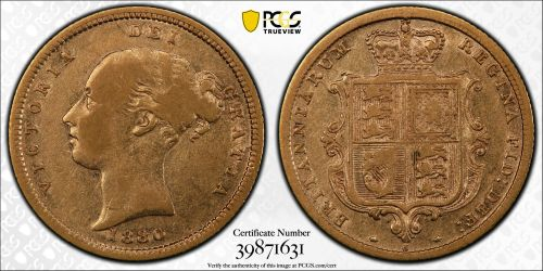 Australia 1880 Sydney Half Sovereign - PCGS VF30