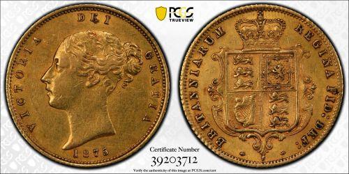 Australia 1875 Sydney Half Sovereign - PCGS XF45