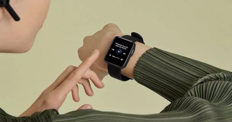 utilizzando Xiaomi Mi Watch Lite