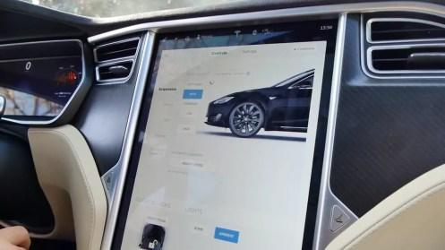 Datos coche en el navegador del Tesla Model S P100D