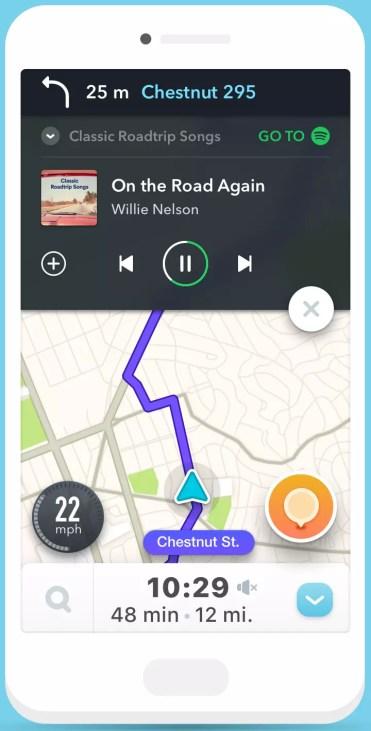 Waze con Spotify
