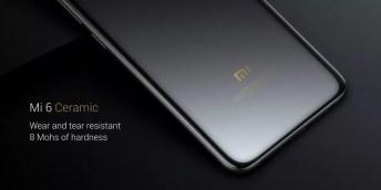 Nuevo Xiaomi Mi 6 con cabado en cerámica