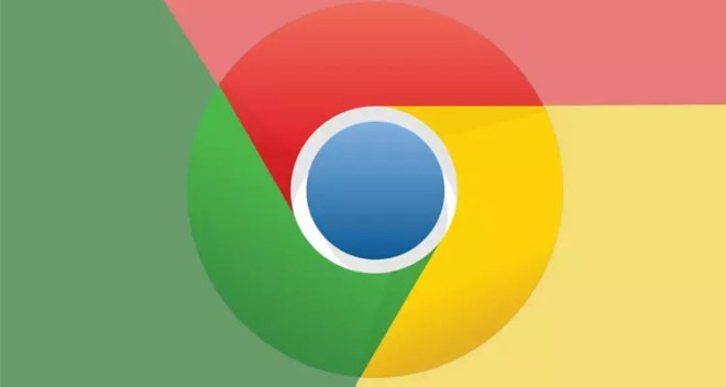 Logo Google Chrome con fondo de colores