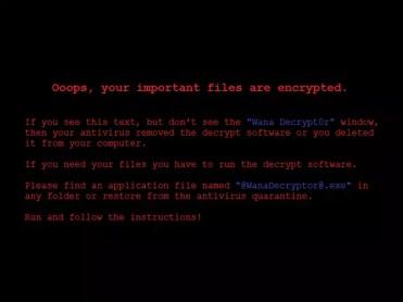 Aviso de ransomware WannaCry