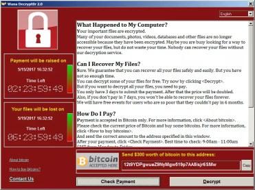 Inforamación de ransomware WannaCry