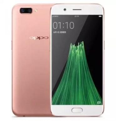 Teléfono Oppo R11 de color rosa