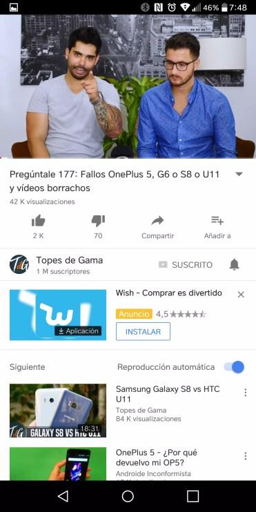 Añadir vídeo en YouTube