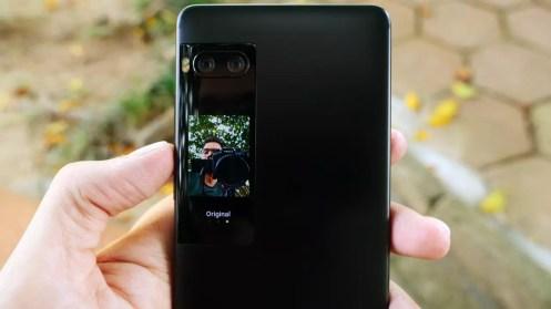 Selfie pantralla Meizu Pro 7