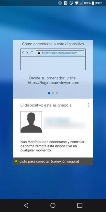 Inicio de la aplicación Teamviewer Host