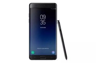Frontal del Samsung Galaxy Note 7 FE