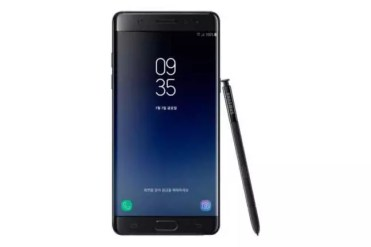 Frontal del Samsung Galaxy Note 7 FE