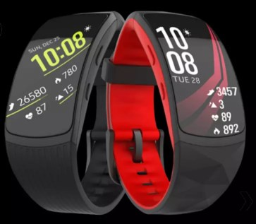Aspecto frontal de la Samsung Gear Fit 2 Pro
