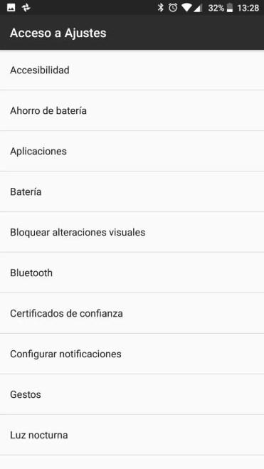 Opciones widget historial de notificaciones
